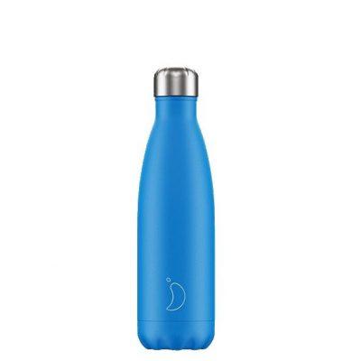 Botella Chilly's acero inoxidable Azul Neón 500ml