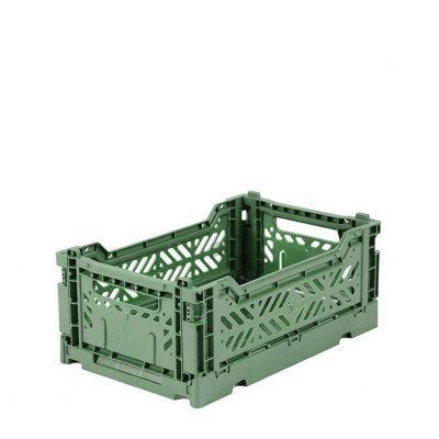 Caja Lillemor Plegable Mini Verde Almendra