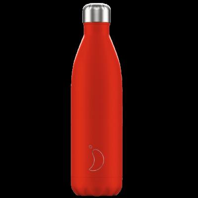 Botella Inox Rojo Neón 750ml