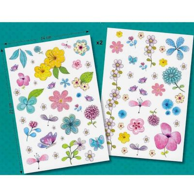 Con Tatuajes Flores Campestres, adorna tu piel de manera temporal con imágenes de flores.