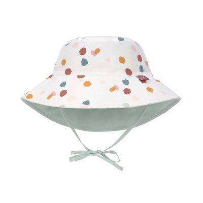 LSF Sun Protection Bucket Hat Spotted White