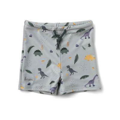 Otto Swim Pants Dino Dove Blue Mix