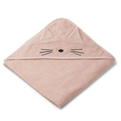 Augusta Hooded Towel Cat Rose