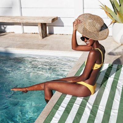 Toalla Dock & Bay Cabana Cayman Khaki - XL (2.00x0.90)