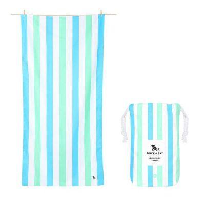 Toalla Dock & Bay Summer Azul & Verde - XL (2.00x0.90)
