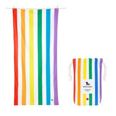 Toalla Dock & Bay Summer Rainbow - L (1.60x0.90)