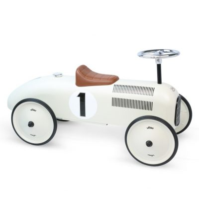 Cream White Vintage Ride on Car