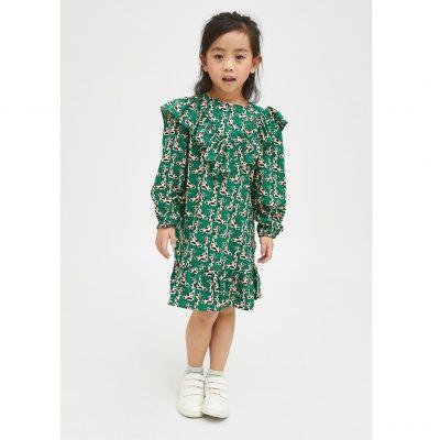 Vestido de Niña Evasé con Animal Print de Jirafas