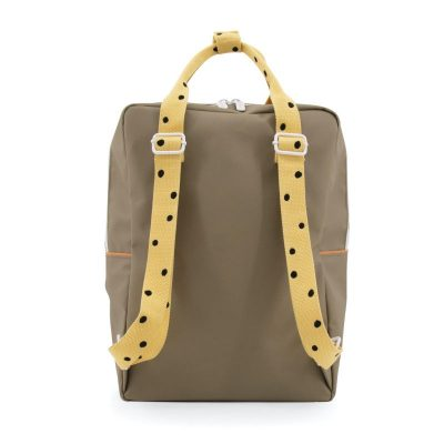 [1801646] Sticky Lemon backpack large | freckles seventies green + retro yellow + faded orange