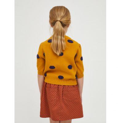 Jersey de niña con Estampado de Lunares Mostaza