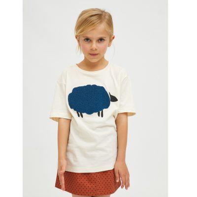 Camiseta Unisex de Algodón con Animal Print de Ovejas