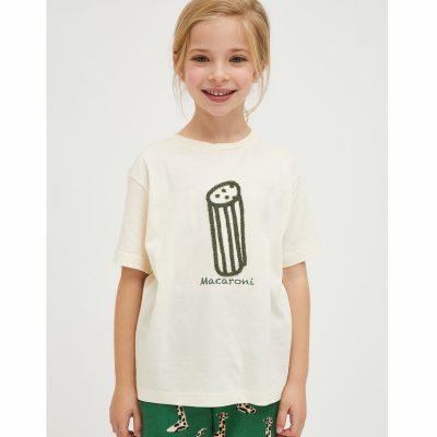 Camiseta Unisex de Algodón con Estampado de Macarrones